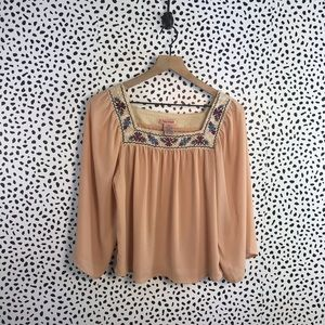 Anthro || Flying Tomato peasant blouse size small